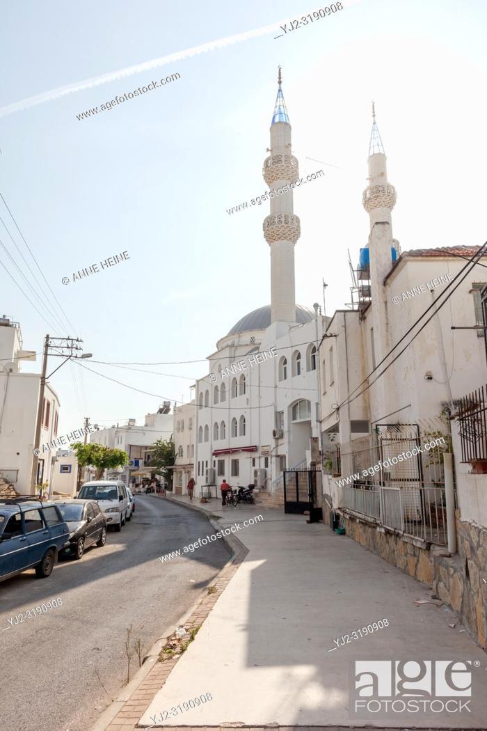 Stock Photo: Mosque Kayalar Cami in Bodrum, Turkey.