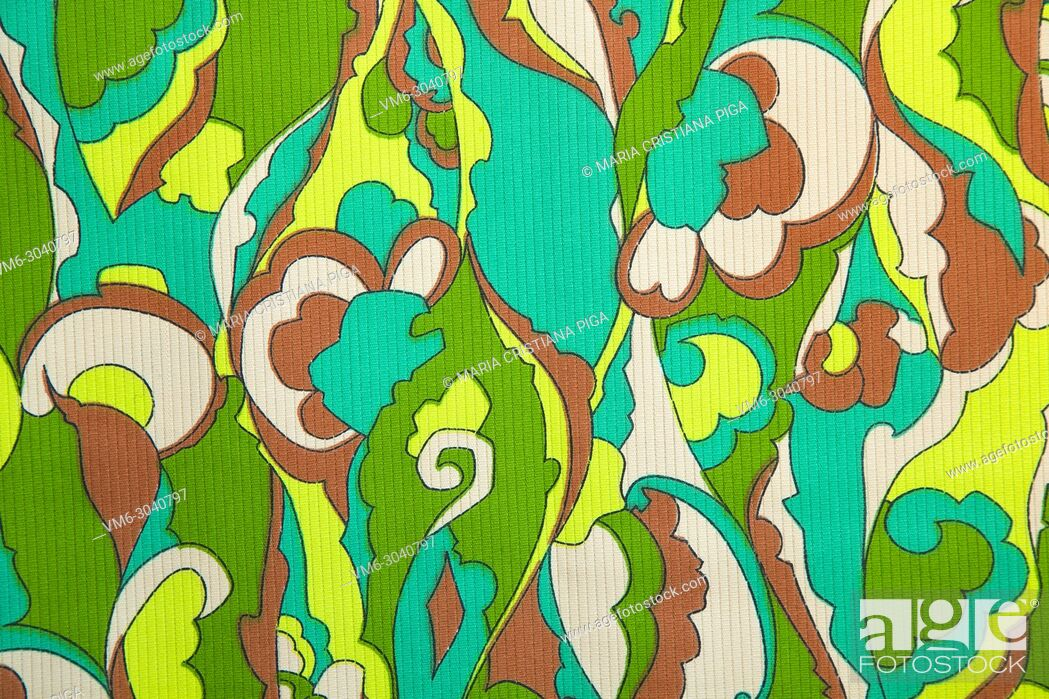 Stock Photo: Detail of vintage fabric pattern.