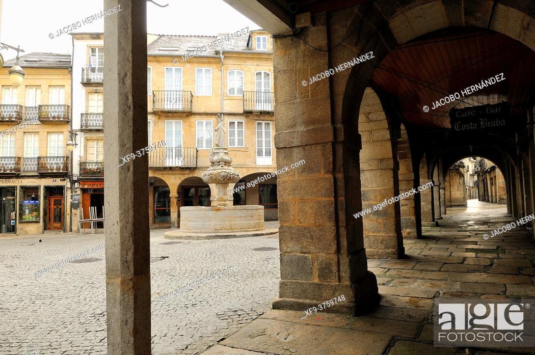 Stock Photo: Plaza del Campo. Lugo. Galicia. Spain.