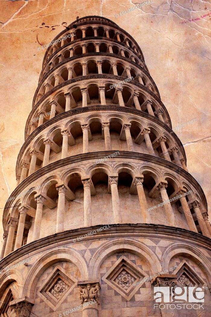 Stock Photo: Leaning Tower Of Pisa, Piazza Dei Miracoli, Pisa, Tuscany, Italy.