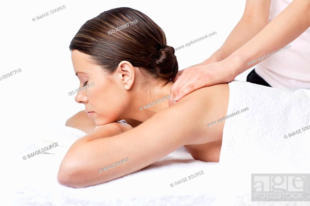 Stock Photo: Woman having a massage.
