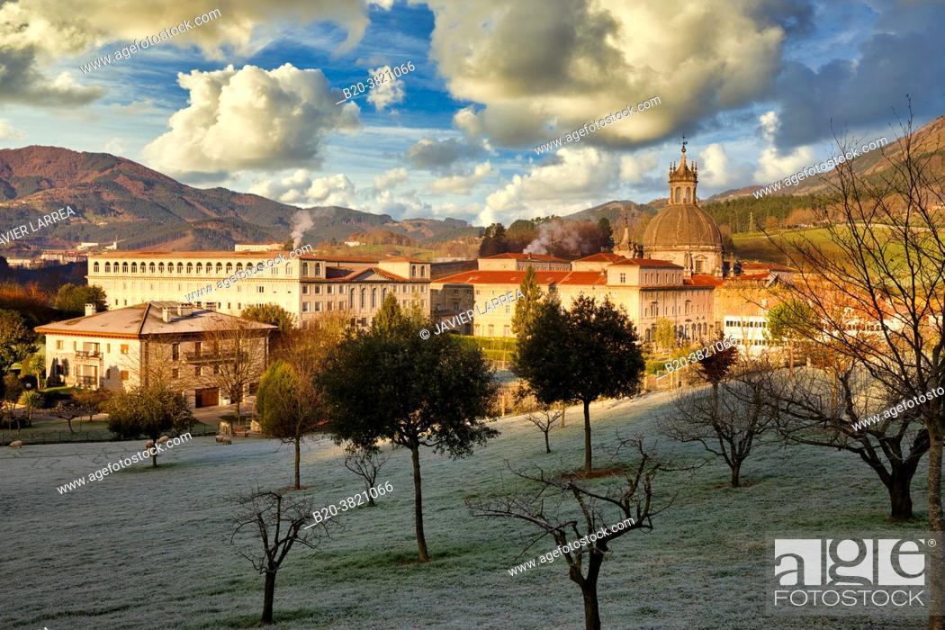 Stock Photo: San Ignacio de Loyola Sanctuary, Ignatian Way, Azpeitia, Gipuzkoa, Basque Country, Spain, Europe.