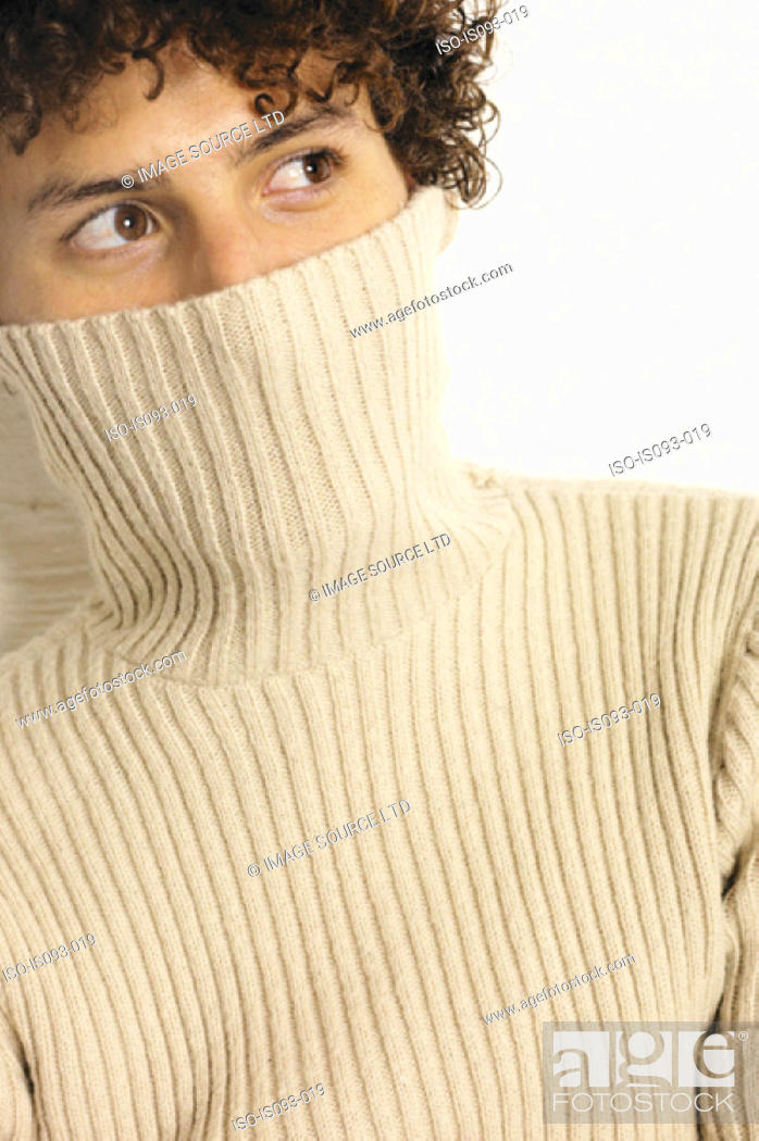 Stock Photo: Man with partly concealed face.
