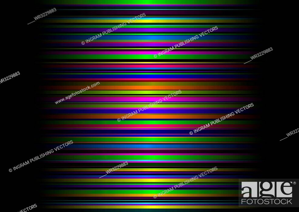 Vector: Colorful metallic illustrated abstract background with rainbow stripes.