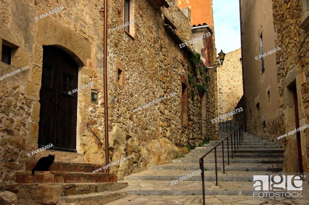 Stock Photo: Pals, Baix Emporda, Girona province, Catalonia, Spain.