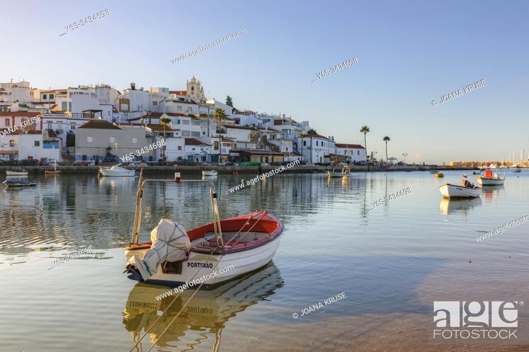 Stock Photo: Ferragudo, Portimao, Faro, Algarve Portugal, Europe.