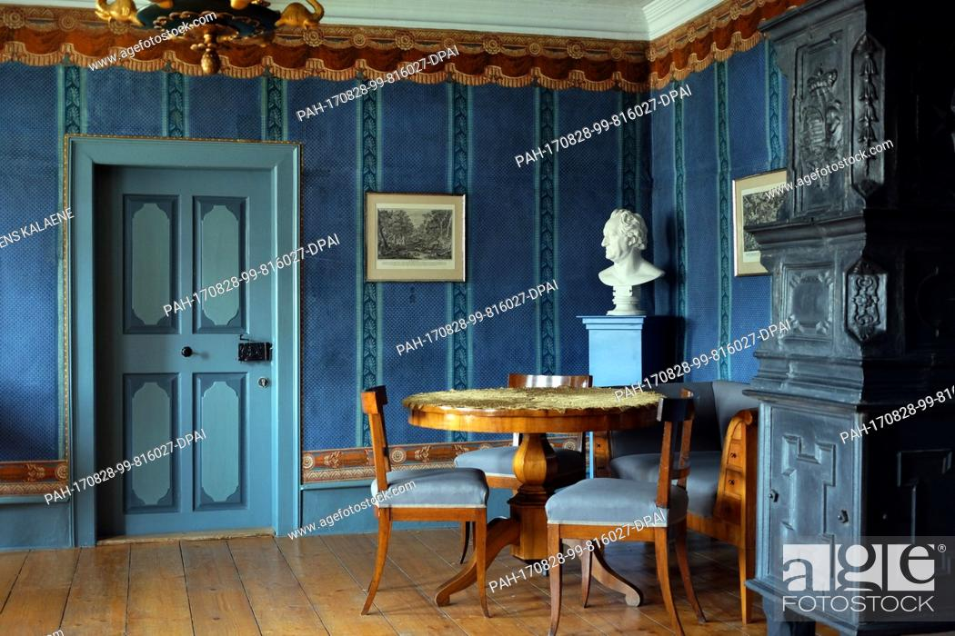 Stock Photo Archive The Goethe Room With A Blue Buest Patterned