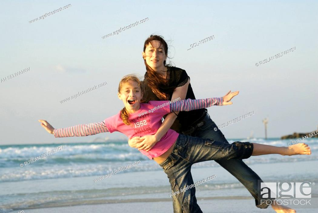 Stock Photo: Mother and daughter - Best friends.