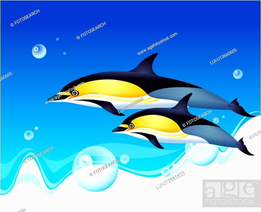 Stock Photo: fishes, ocean, fish, underwater, undersea, sea.