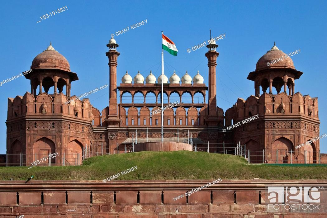 Stock Photo: The Red Fort, New Delhi, India.