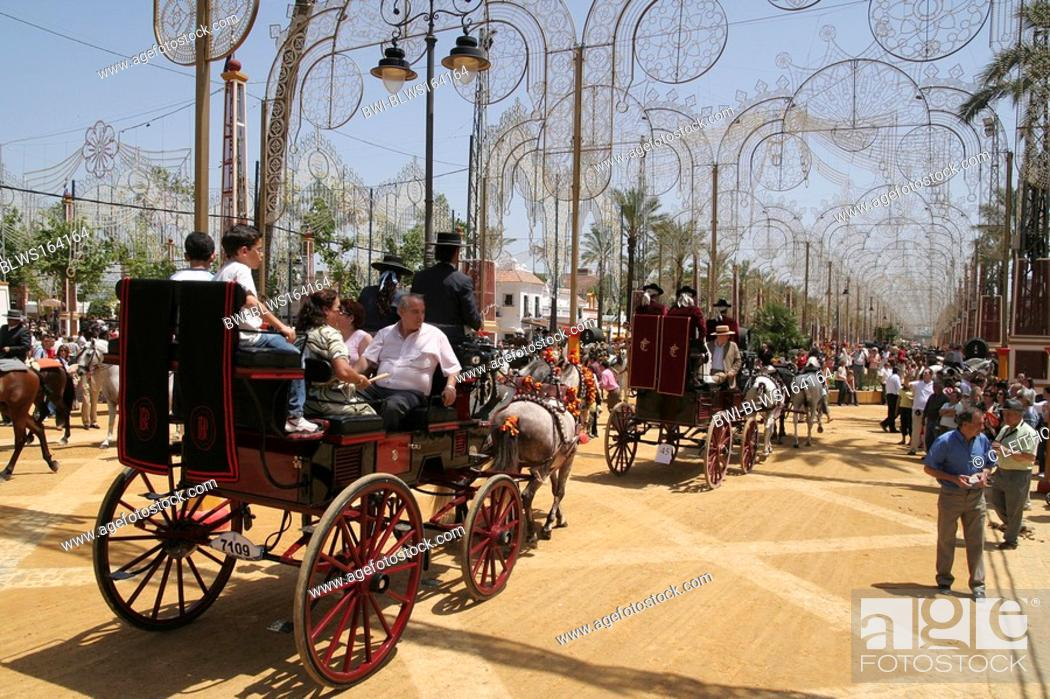 Stock Photo: Feria del caballo in Jerez, Spain, Andalusia.