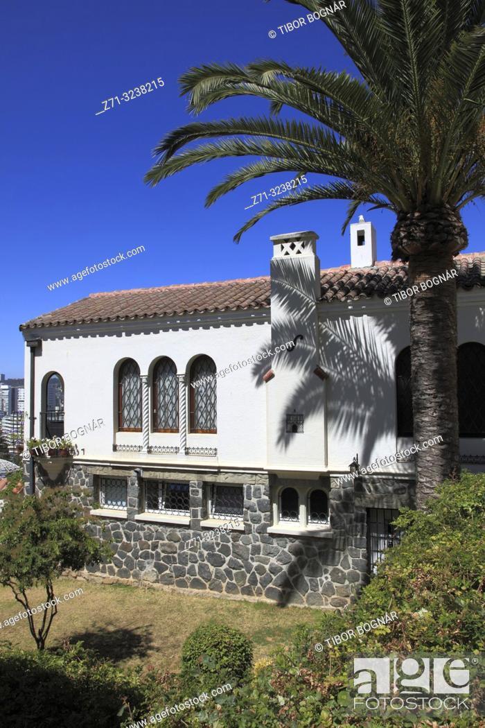 Imagen: Chile, Vina del Mar, house, garden, traditional architecture, .
