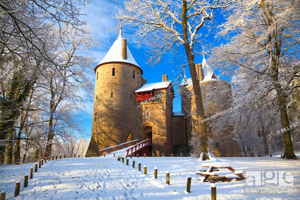 Stock Photo: Castell Coch, Tongwynlais, Cardiff, South Wales, Wales, United Kingdom, Europe.