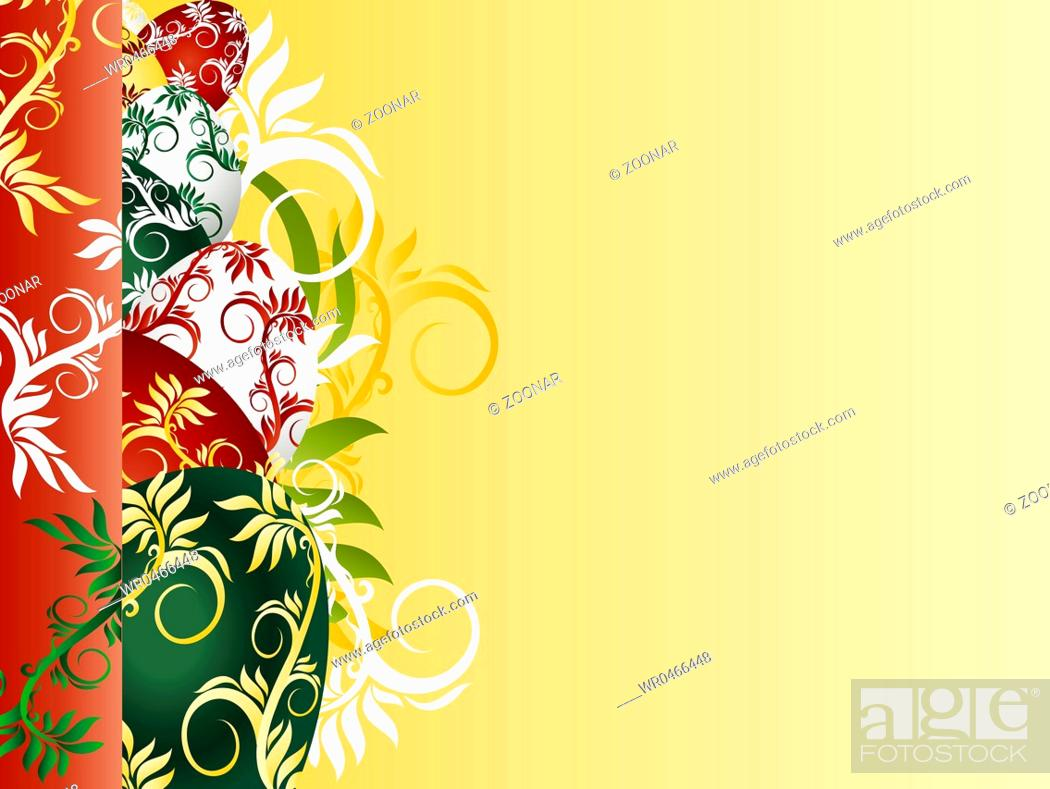 Stock Photo: background with colorfui Easter Eggs.