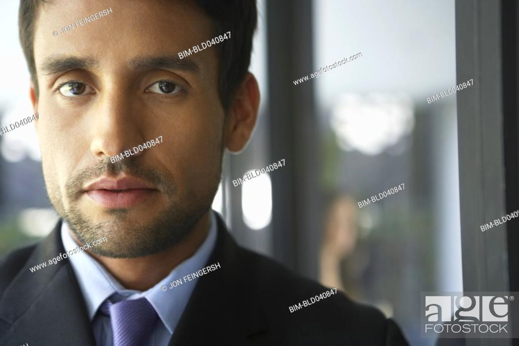 Stock Photo: Close up of South American businessman.