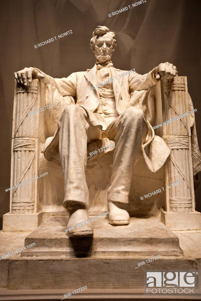 Stock Photo: Plaster Model of Abraham Lincoln Statute for the Lincoln Memorial by.