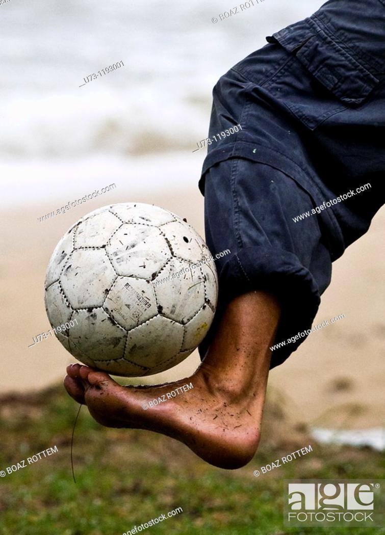 Stock Photo: Dribbling the ball!.