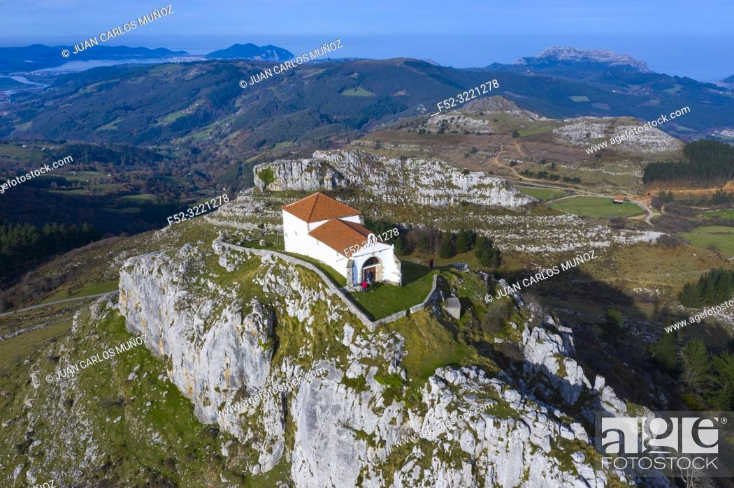 Stock Photo: Ermita de las Nieves, Guriezo Municpality, Cantabria, Spain, Europe.