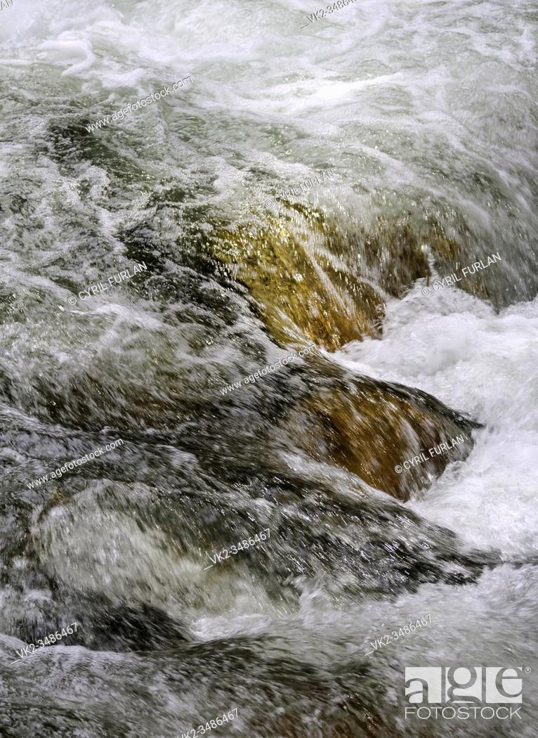 Stock Photo: turbulent water Yosemite National Park California.