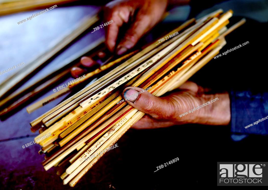 Stock Photo: Chopsticks For A Wedding, Tuan Shan Village, Yunnan Province, China.