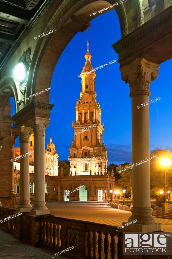Stock Photo: Plaza de España, Seville, Spain.