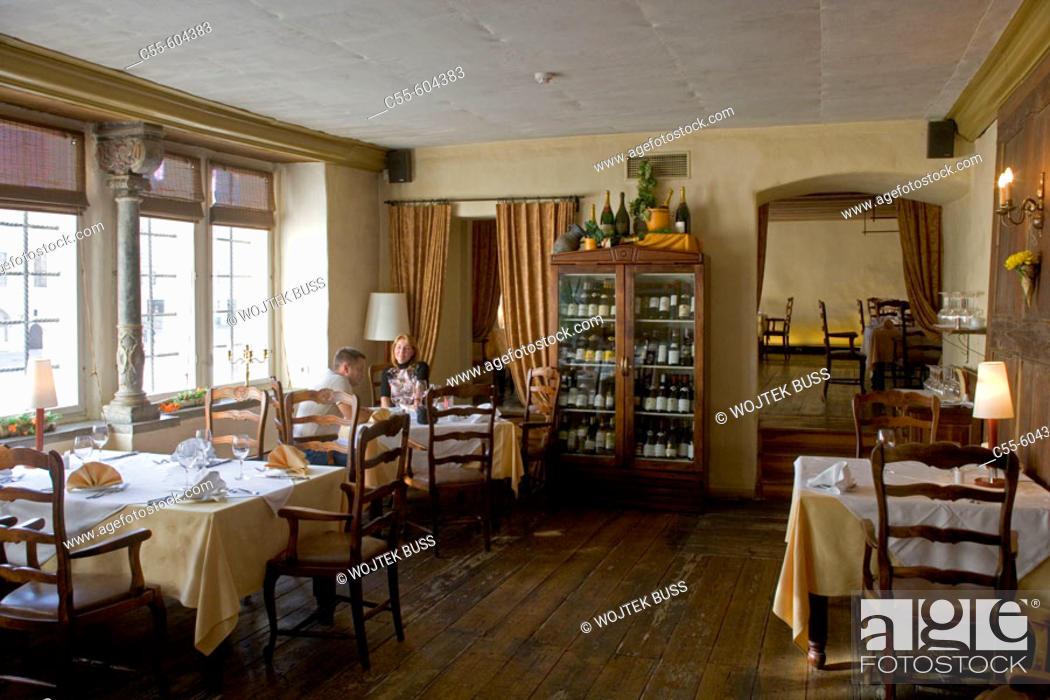 Stock Photo: Balthasar, garlic restaurant. Tallinn. Estonia.
