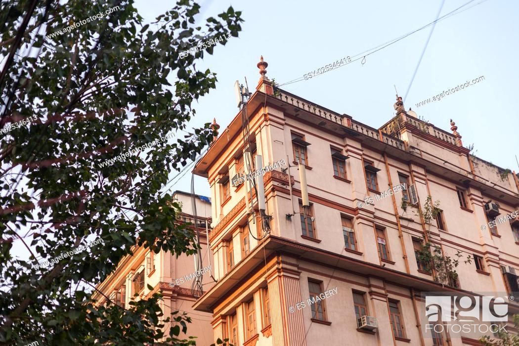 Stock Photo: A colonial-style house in Kolkata (Calcutta), India.