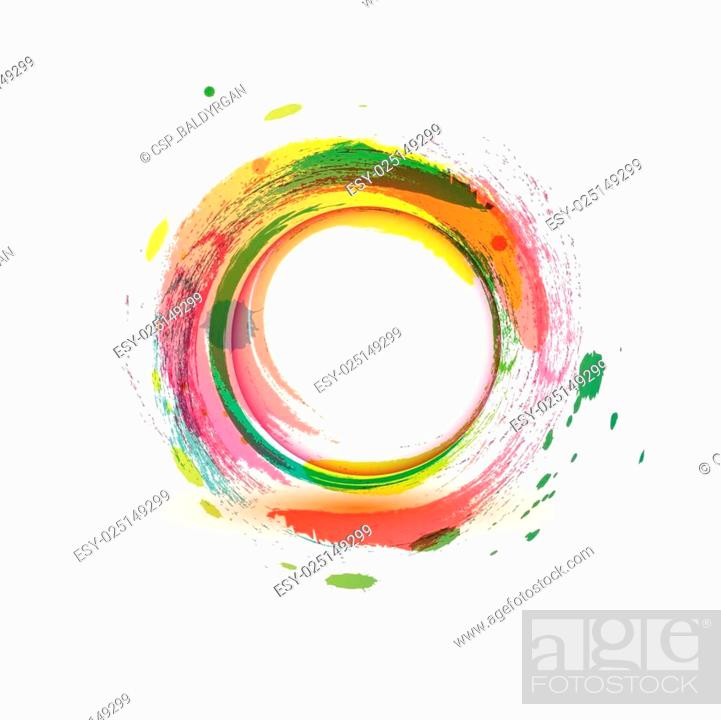 Stock Vector: abstarct background multicolor water circle.
