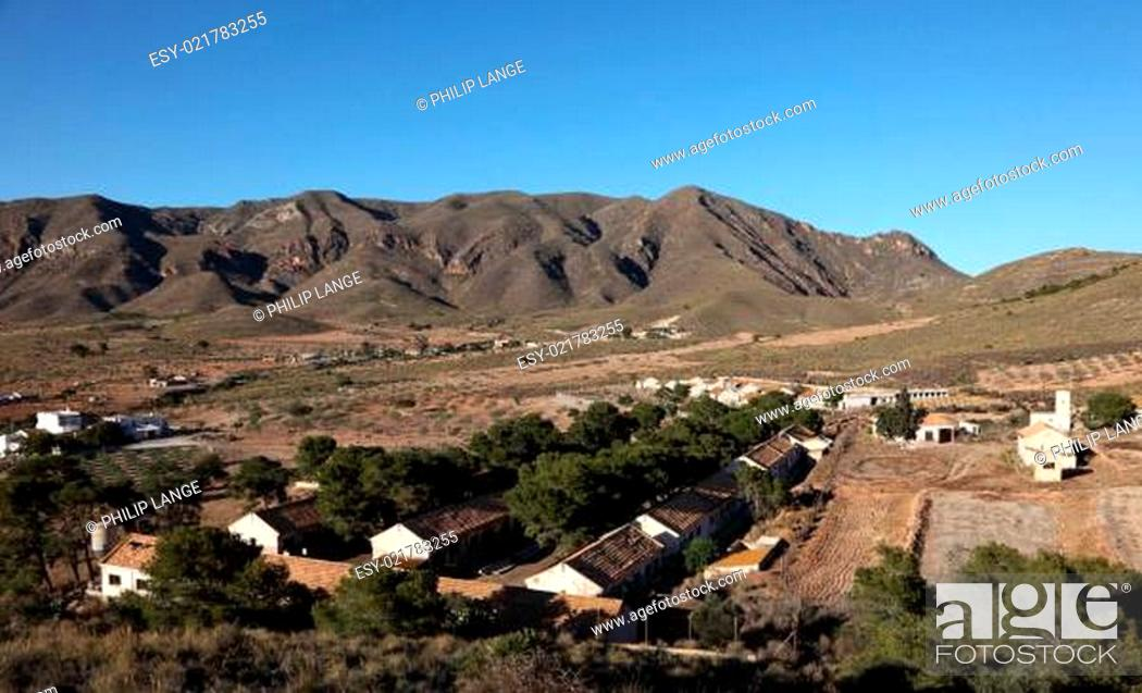 Stock Photo: Small village in the mountains. Region Murcia, Spain.