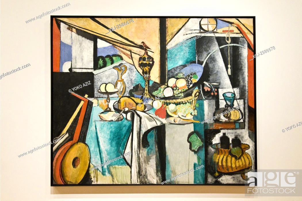 Stock Photo: Still life after jan davidsz by Henri Matisse, 1915, MOMA Museum of Modern Art, Manhattan (New York, United States of America).