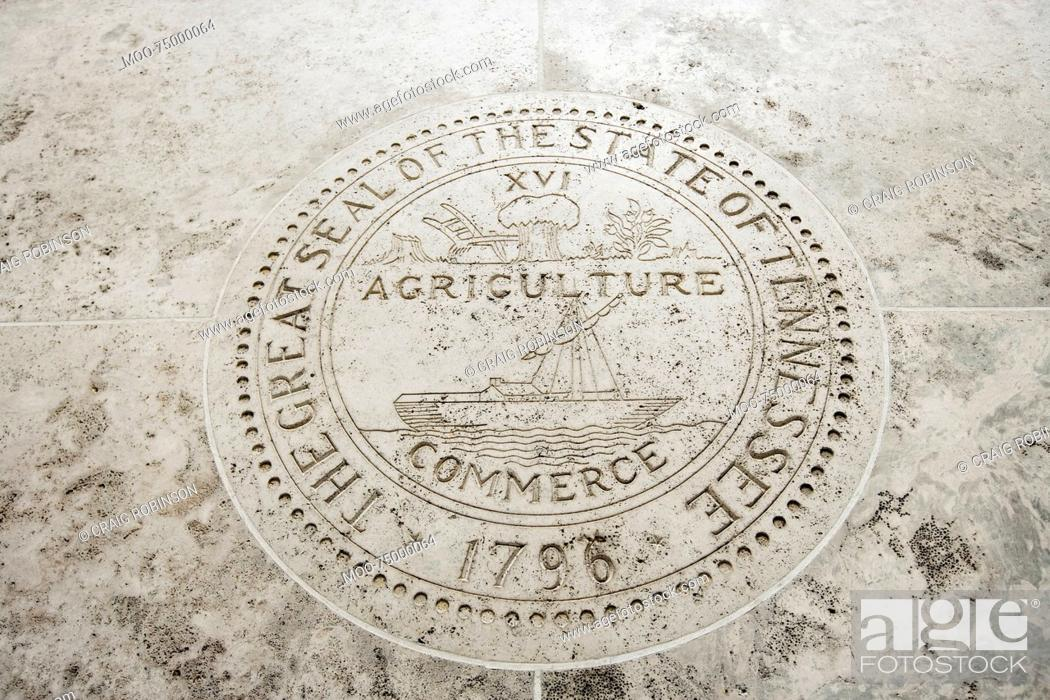 Stock Photo: Great Seal of the State of Tennessee in Fort Bonifacio, Manila, Philippines.