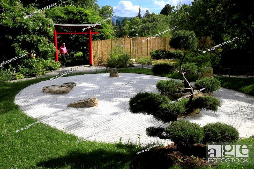 Botanical Garden of the City of Geneva  Japanese zen garden
