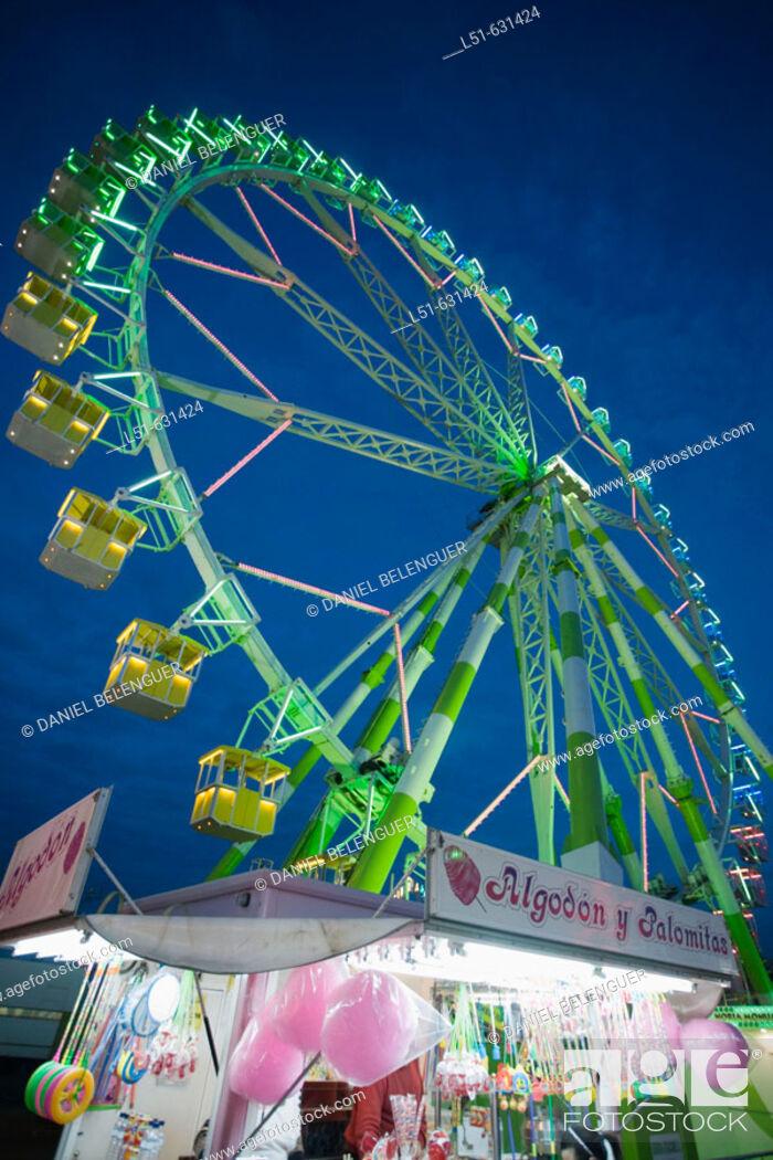 Stock Photo: Ferris wheel. Valencia, Comunidad Valenciana, Spain.