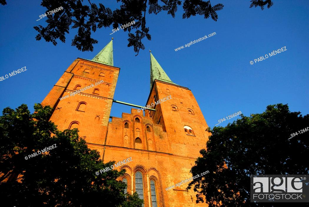 Stock Photo: Cathedral of Lübeck, Schleswig-Holstein, Germany.