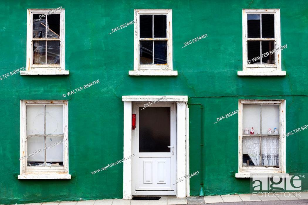 Stock Photo: Ireland, County Cork, Beara Peninsula, Ring of Beara, Allihies, colorful building detail.