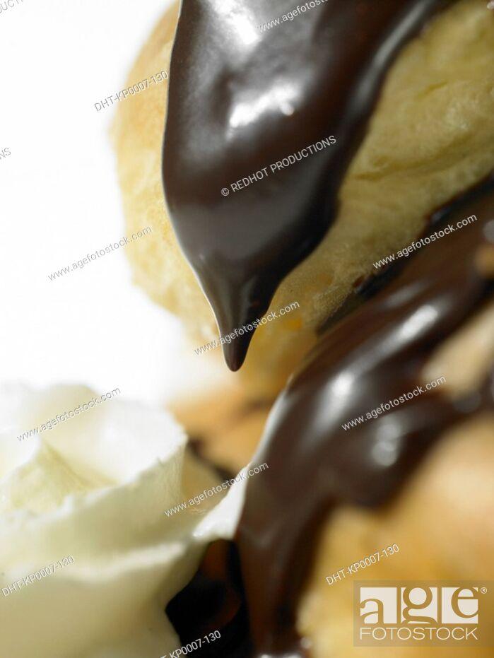 Stock Photo: Food - Profiteroles.