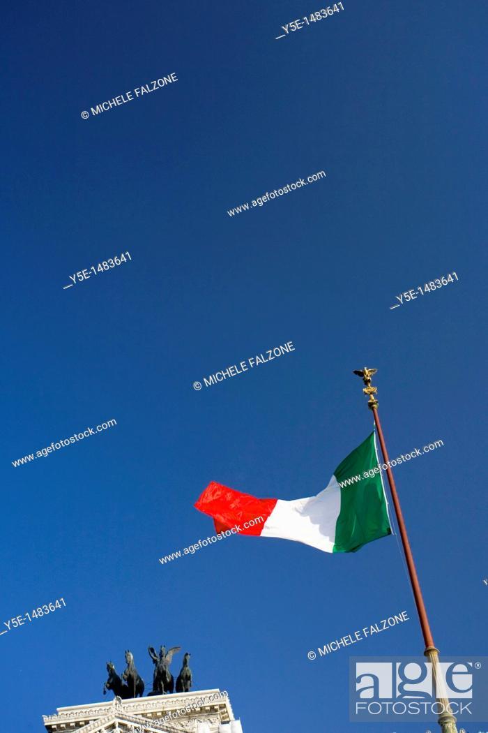 Stock Photo: Detail of Vittorio Emanuele II Monument, Rome, Italy.