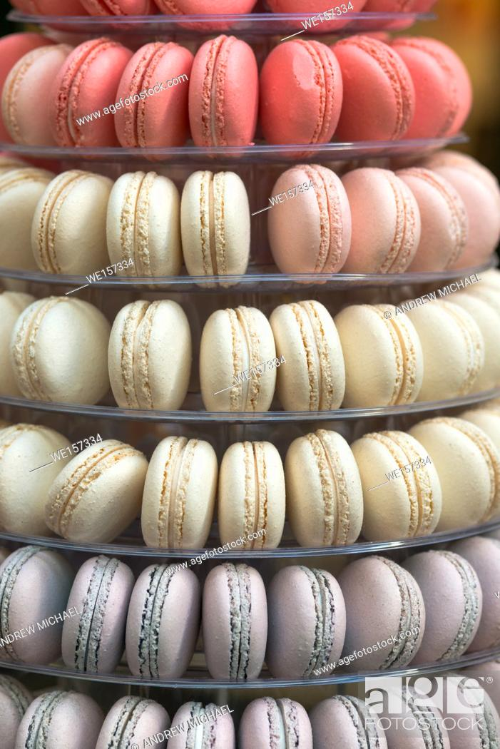 Stock Photo: Tower made of Macaroons at the Royal Arcade, Melbourne, Australia.