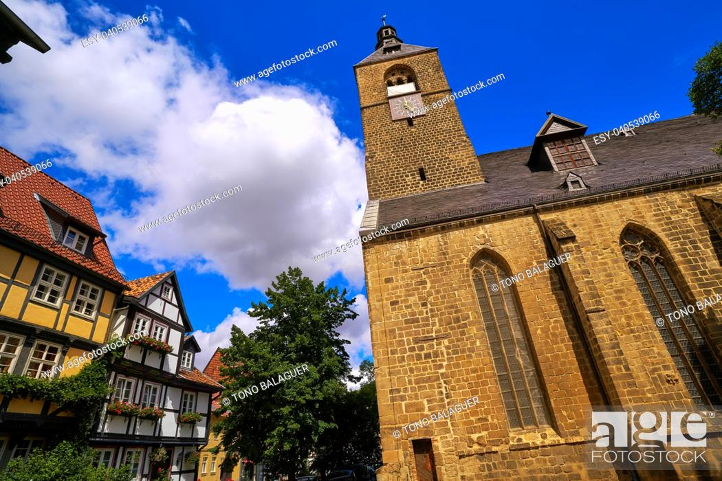 Stock Photo: Quedlinburg city chuch in Harz of Germany.