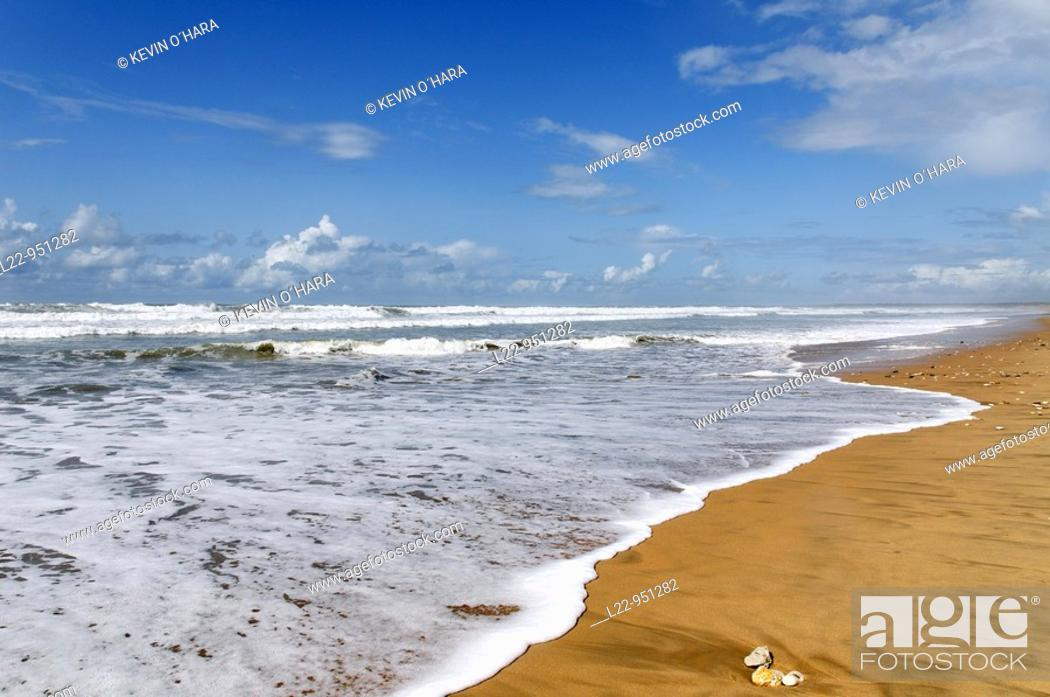 Stock Photo: Beach of La Giraudière. Grand-Village-Plage. Island of Oleron. Charente Maritime. France.