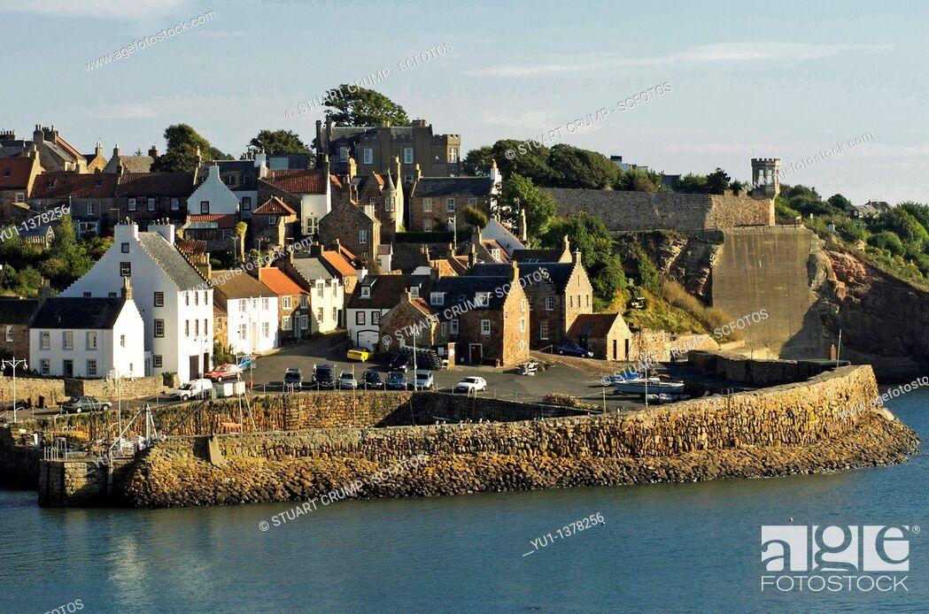 Stock Photo: Crail Harbour, Crail, Fife, Scotland, United Kingdom.
