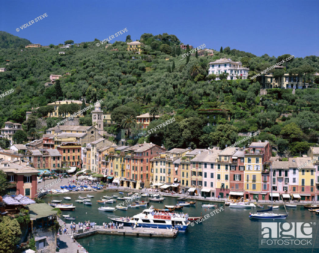 Imagen: Coastal, Harbour, Holiday, Italy, Europe, Landmark, Liguria, Portofino, Tourism, Travel, Vacation, View, Village, Yachts,.