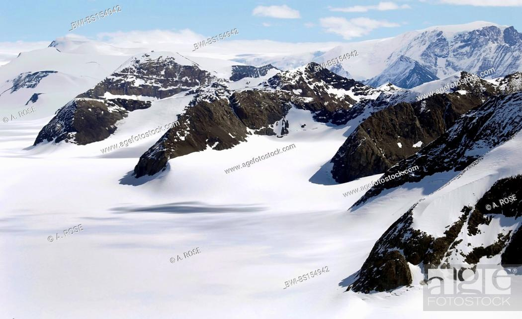 Imagen: antarctic glacier valley, Antarctica, Suedpolarmeer.