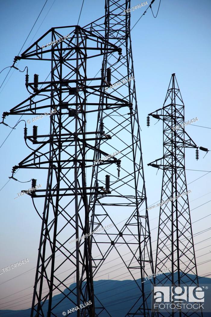 Stock Photo: electric power plant. Alhama de Almeria, Almeria, Andalucia, Spain.