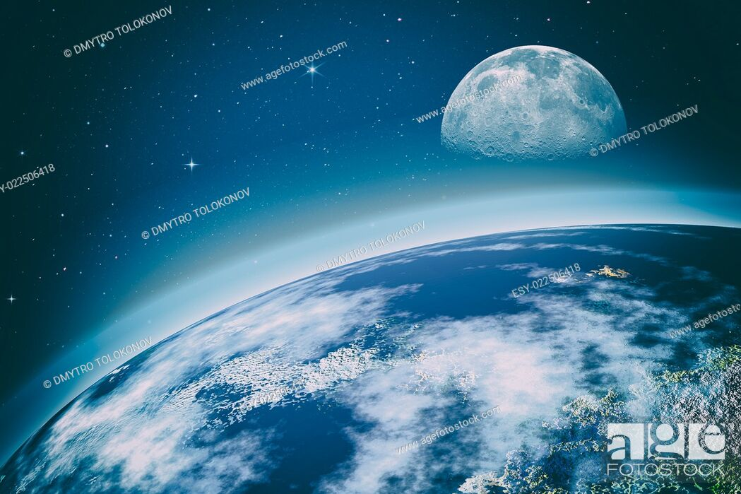 Stock Photo: outer space. On the Orbit. Abstract science backgrounds. NASA imagery used.