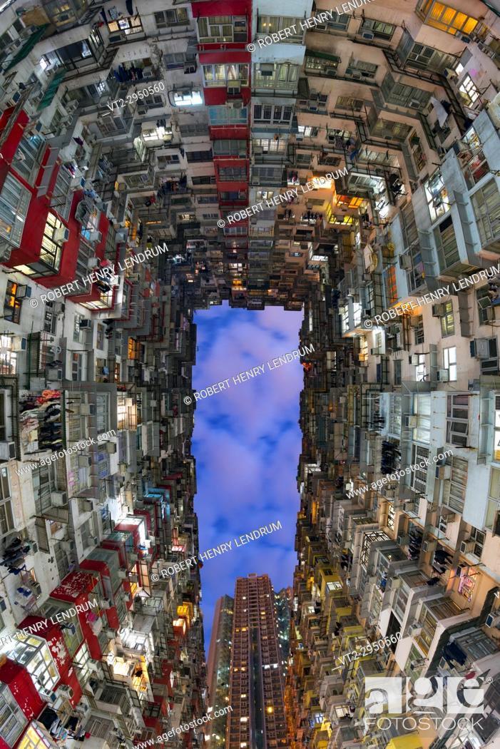 Stock Photo: Hong Kong dense city buildings, Hong Kong, China.