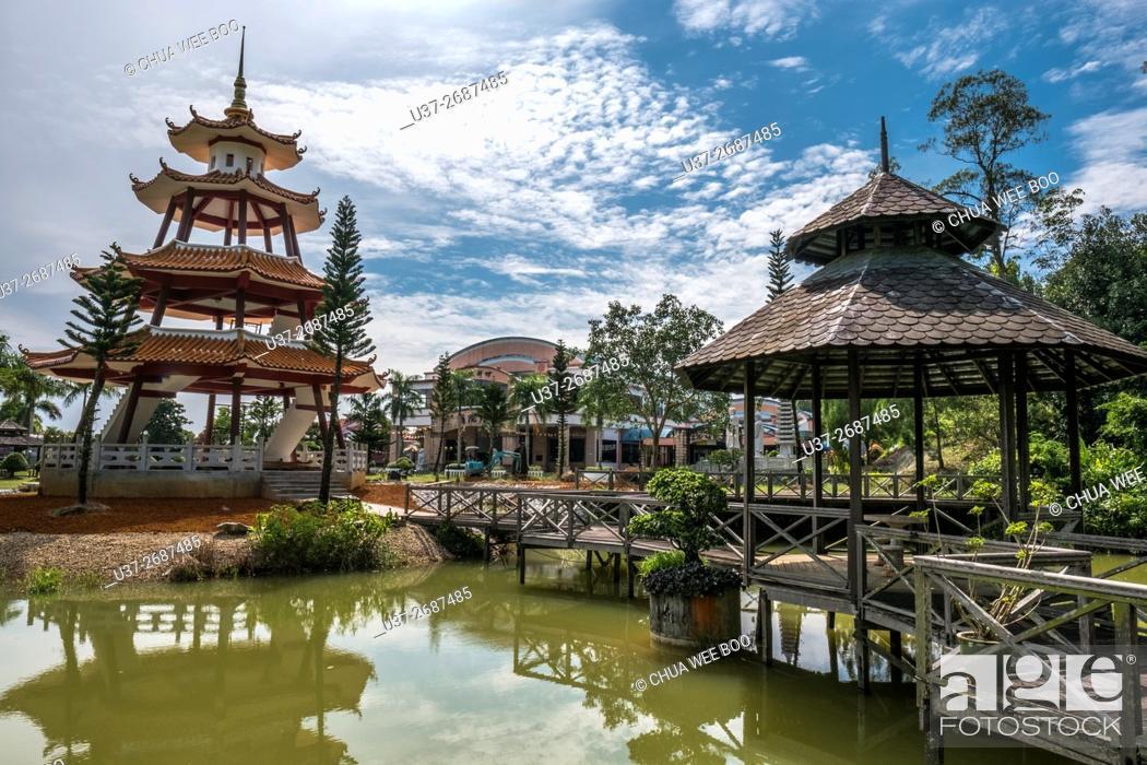 Stock Photo: The Buddhist Village, Kuching, Sarawak, Malaysia.