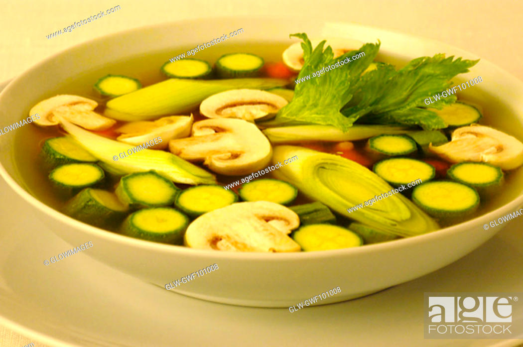 Stock Photo: High angle view of vegetables in a bowl.
