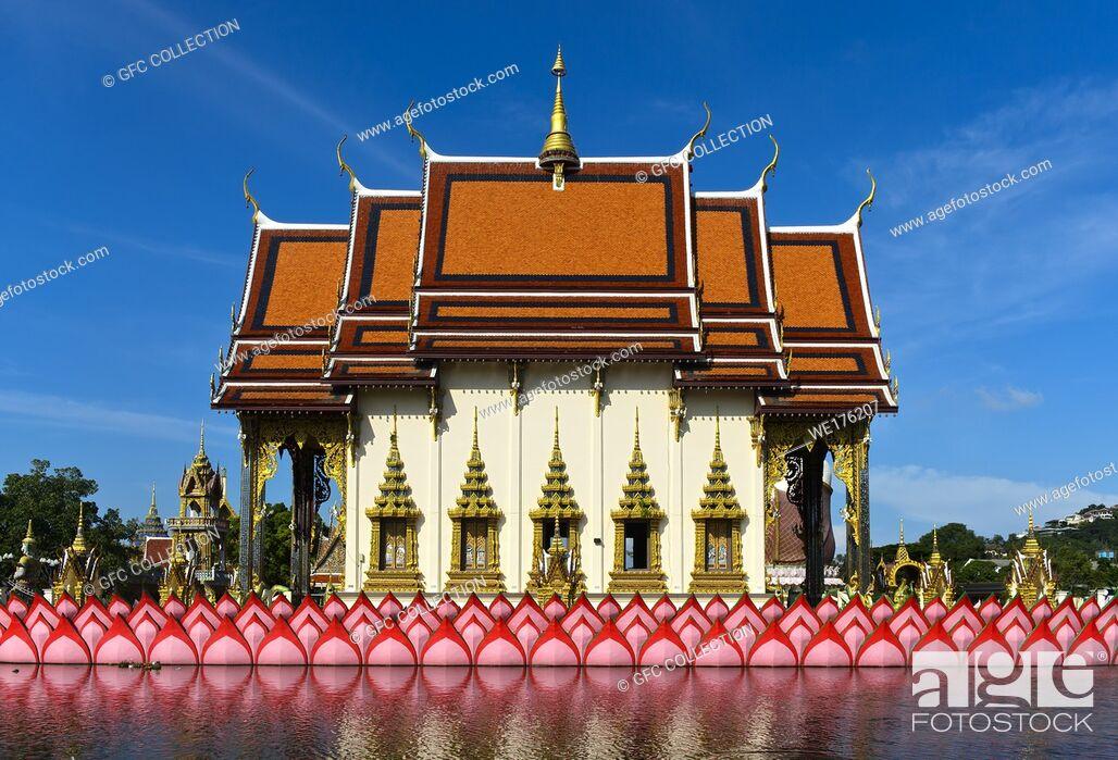 Photo de stock: Suwannaram Temple, Wat Plai Laem, Koh Samui, Thailand.