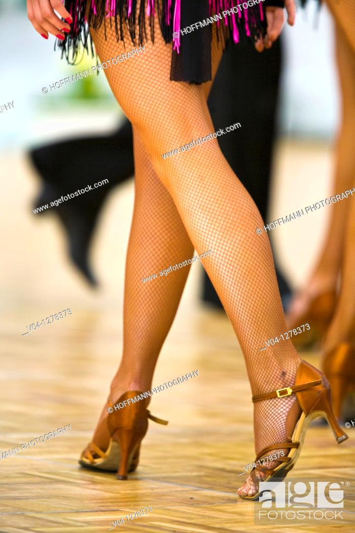 Stock Photo: Close up of the legs of a female dancer.